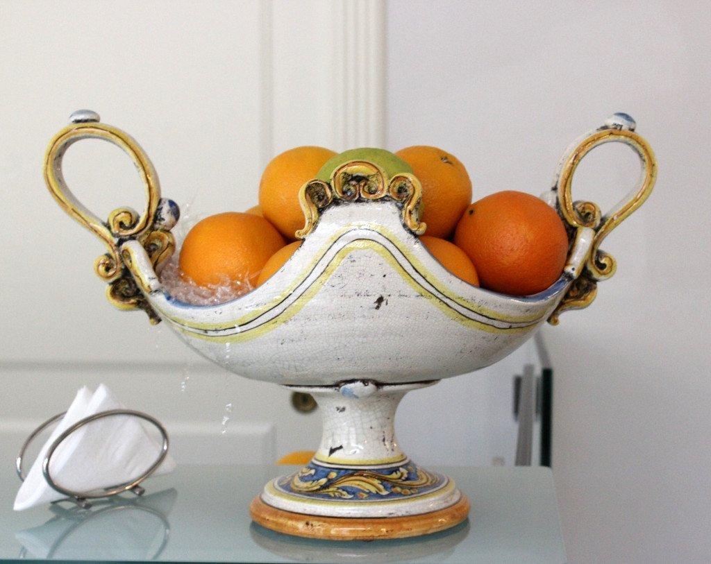 Ceramic Orange Bowl cropped