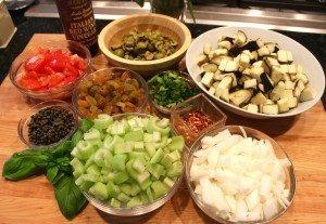 Caponata ingredients