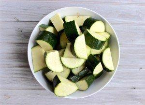 Zucchini chunks