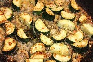 Zucchini sizzling