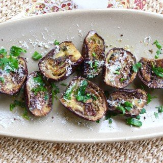 Roasted Baby Eggplant with Parmesan