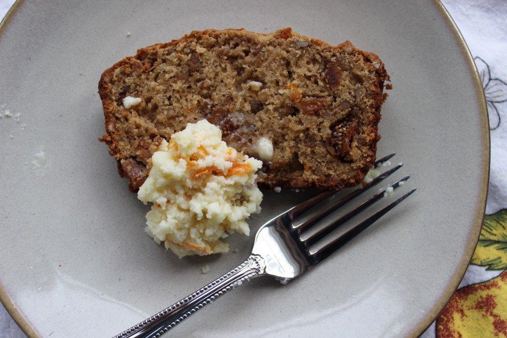 Orange, Fig, Walnut bread slice