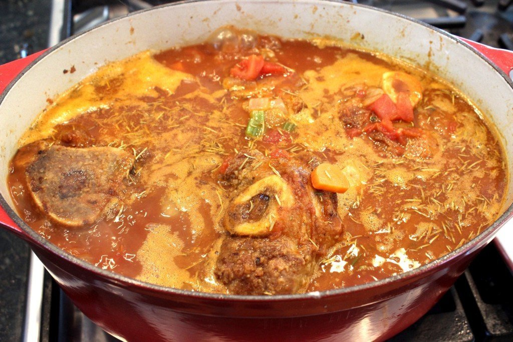 Osso Buco in pot finished