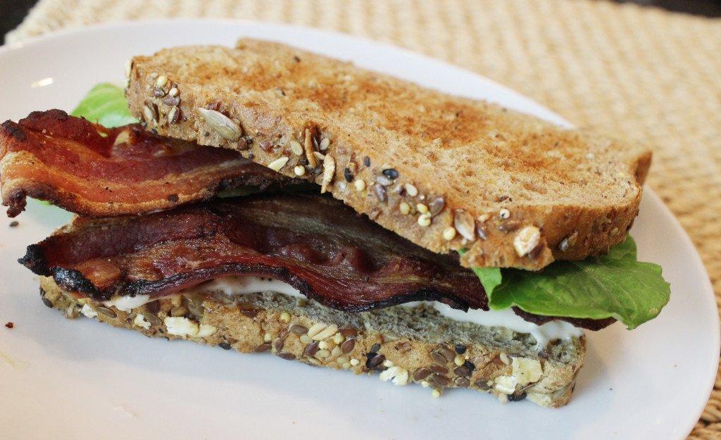 Bacon Lettuce Sammy on Whole Grain