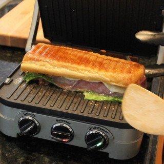 Panini on grill pan