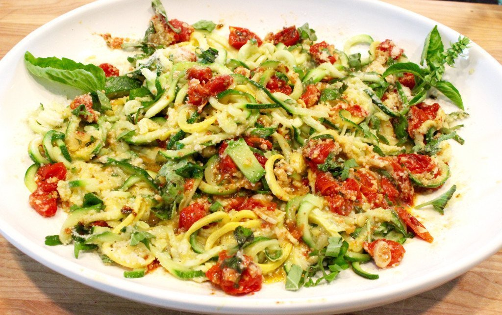 Zoodles with Roasted Cherry Tomatoes