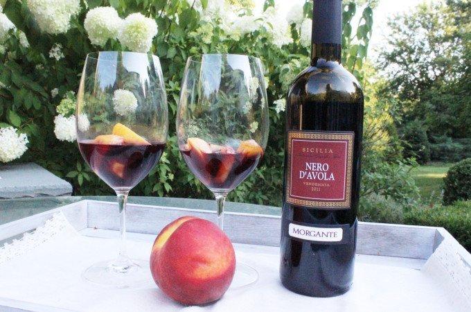 peaches in wine