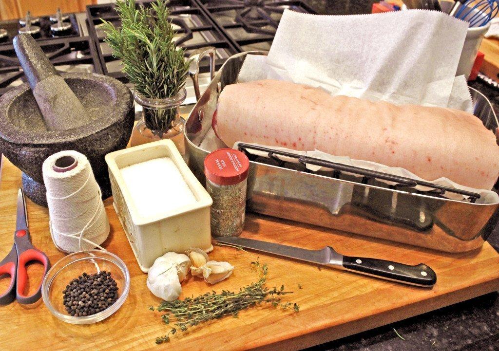 Pork Belly preparations for Porchetta