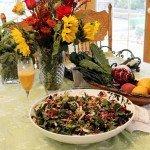 tuscan salad and flowers