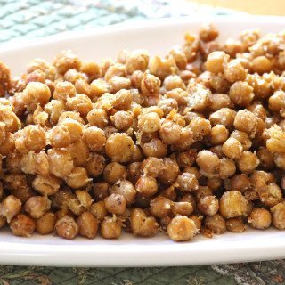 Roasted Chickpeas with Parmesan