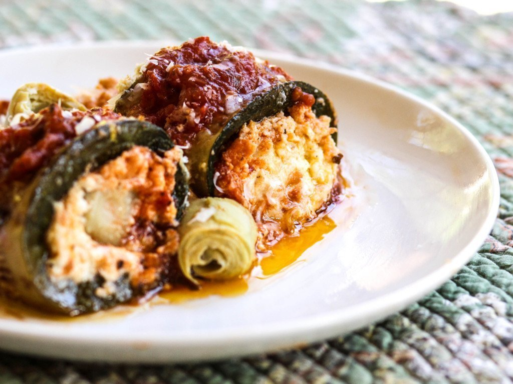 Zucchini and Artichoke Rollatini