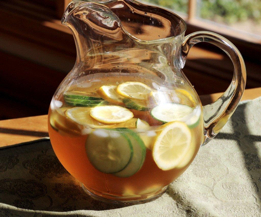 lemon ginger water pitcher