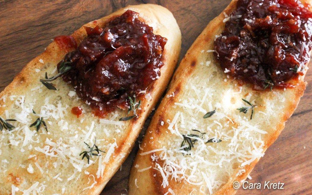 tomato jam on crostini