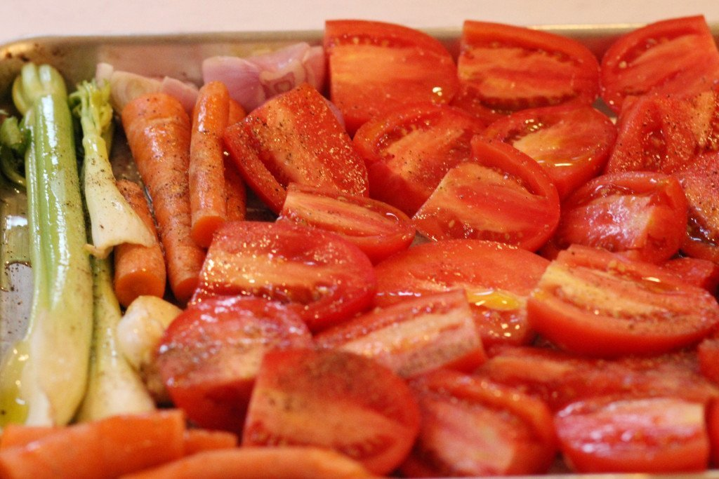 tomatoes in pan