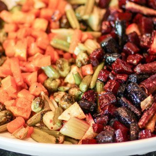 Colorful Platter of Roasted Autumn Vegetables