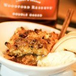 bread pudding with bourbon sauce and ice cream