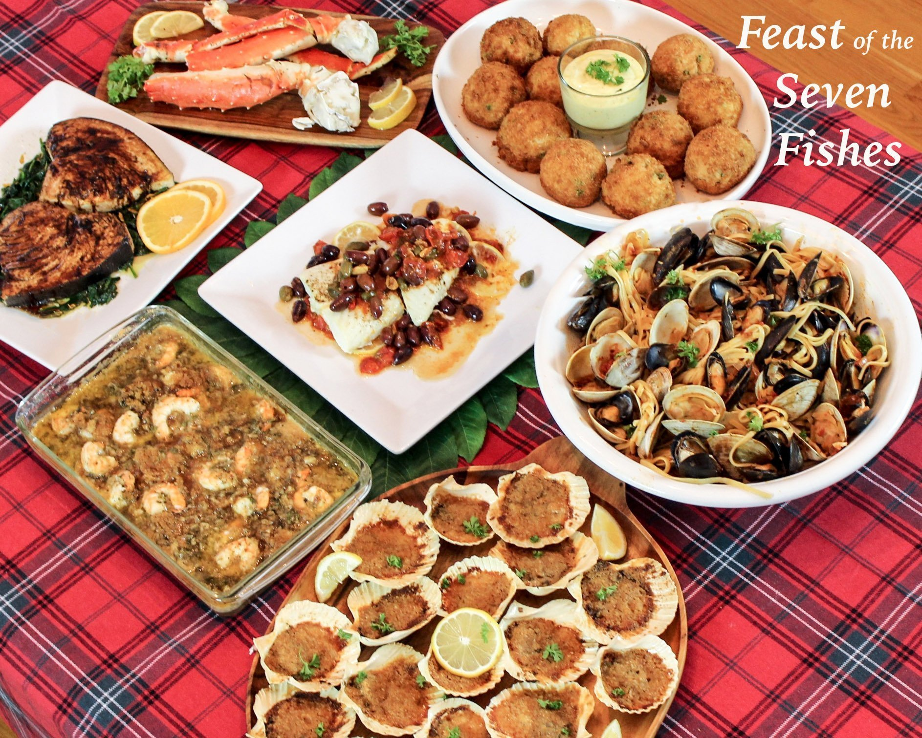 7 Fishes Christmas Eve Italian Recipes.Feast Of The Seven Fishes A Sicilian Christmas Eve Dinner