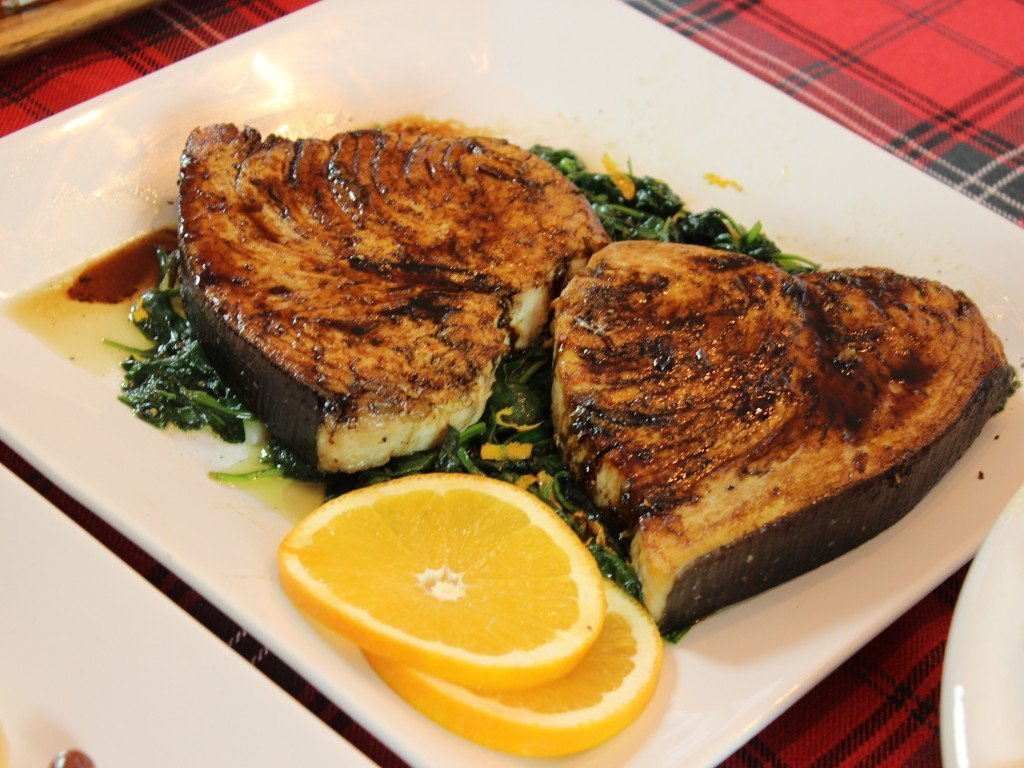 Swordfish with Balsamic glaze