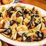 Linguini Clams Mussels Red Sauce