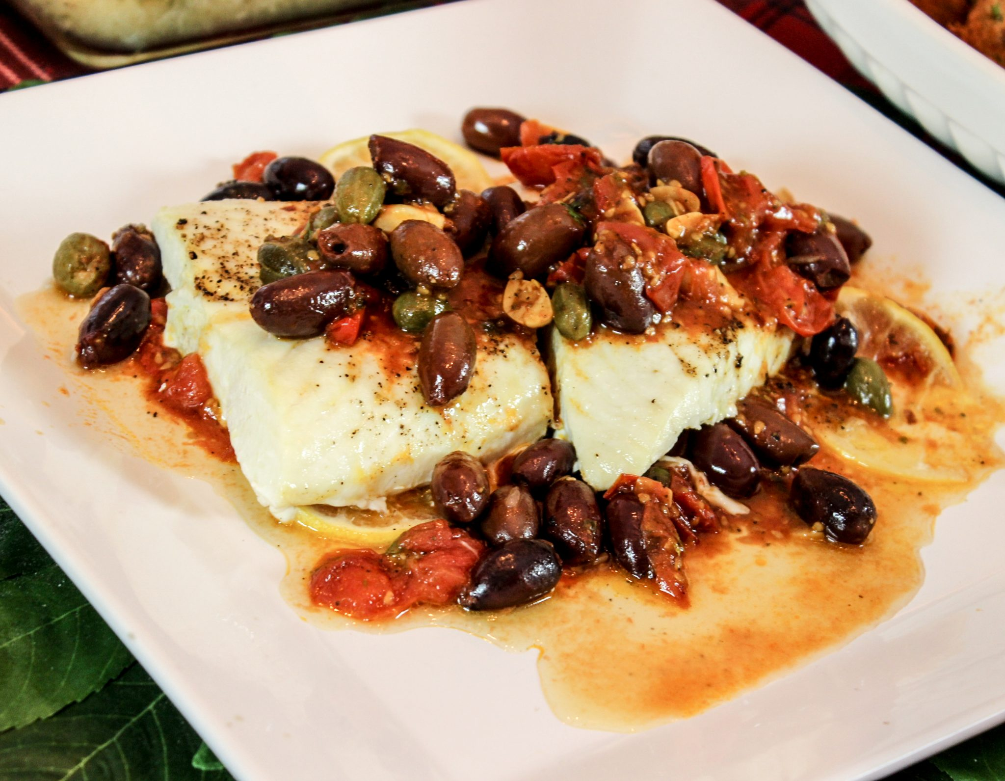 Feast of the seven fishes baked halibut with cherry for How to cook halibut fish