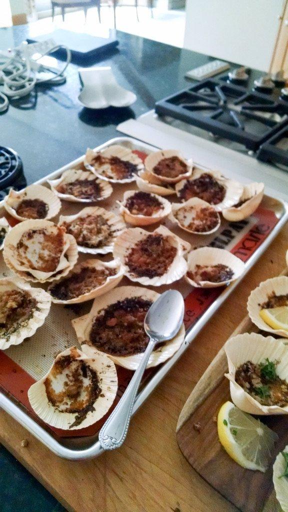 burnt clams