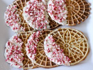 pizzelles with peppermint