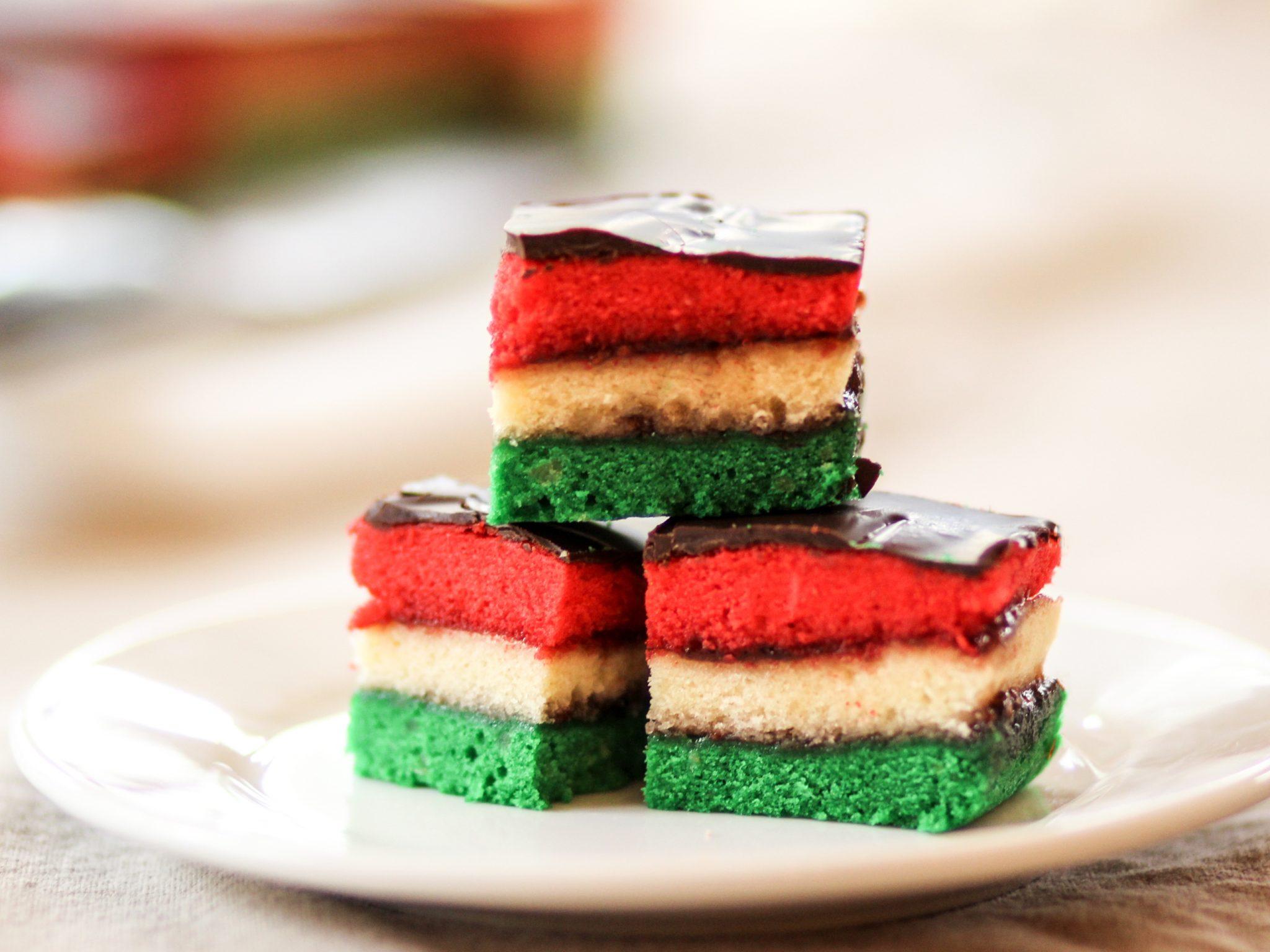 Italian Rainbow Cookies | Homemade Italian Cooking