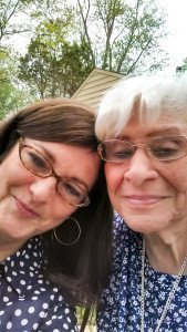 Aunt Florence and me selfie