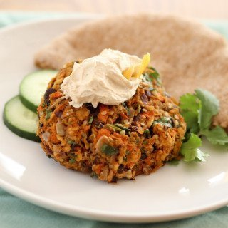 Sweet Potato & Black Bean Veggie Burger