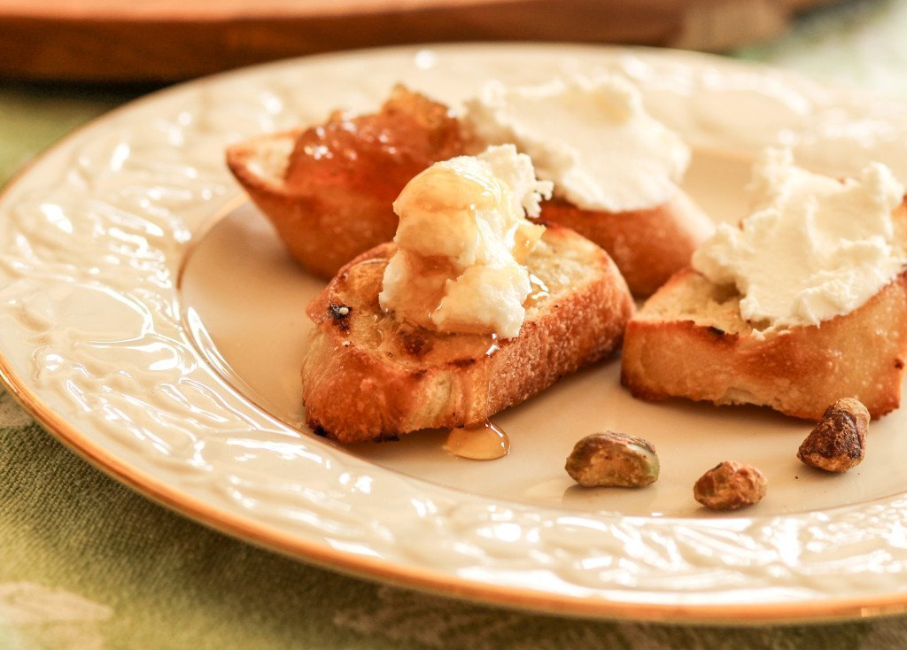 Ricotta Honey Crostini
