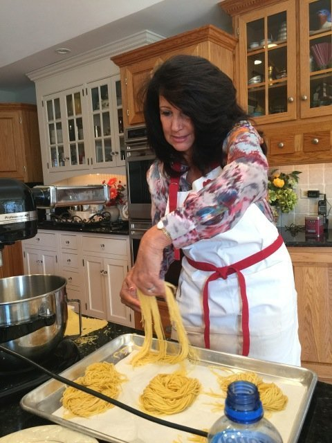 nesting homemade pasta