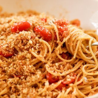 St. Joseph's Day Pasta with Buttered Breadcrumbs
