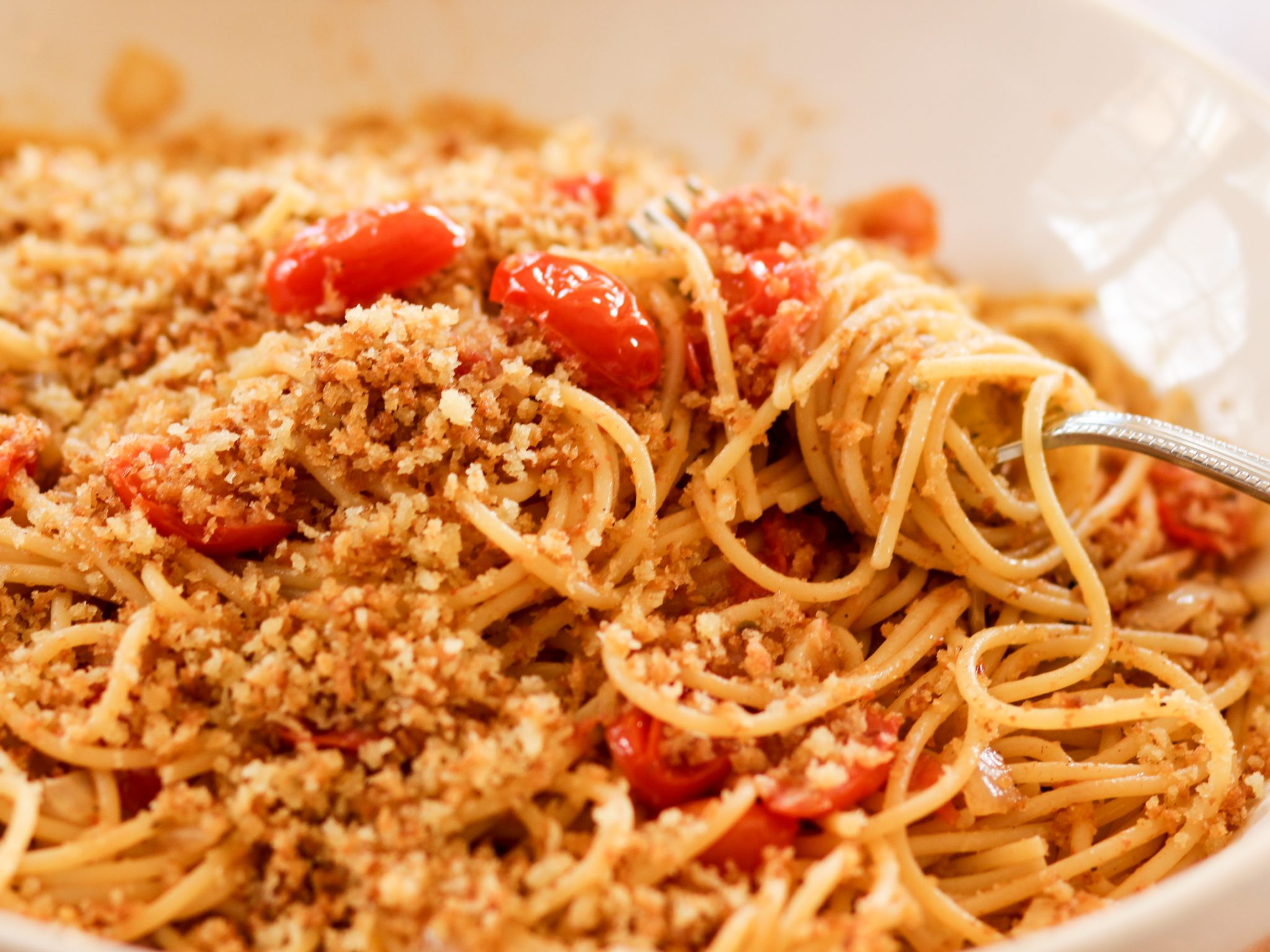 St Joseph S Day Pasta With Buttered Breadcrumbs Homemade Italian Cooking