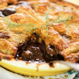 Irish steak Guinness pie