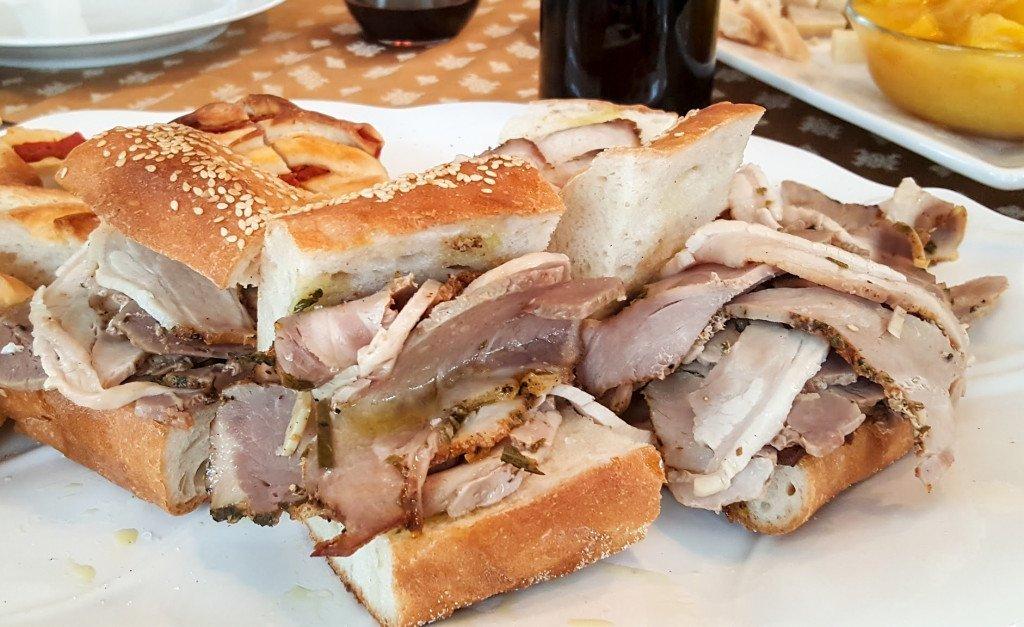 Porchetta sandwich Neighborhood restaurant