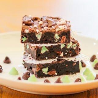 Dark Chocolate Mint Brownies