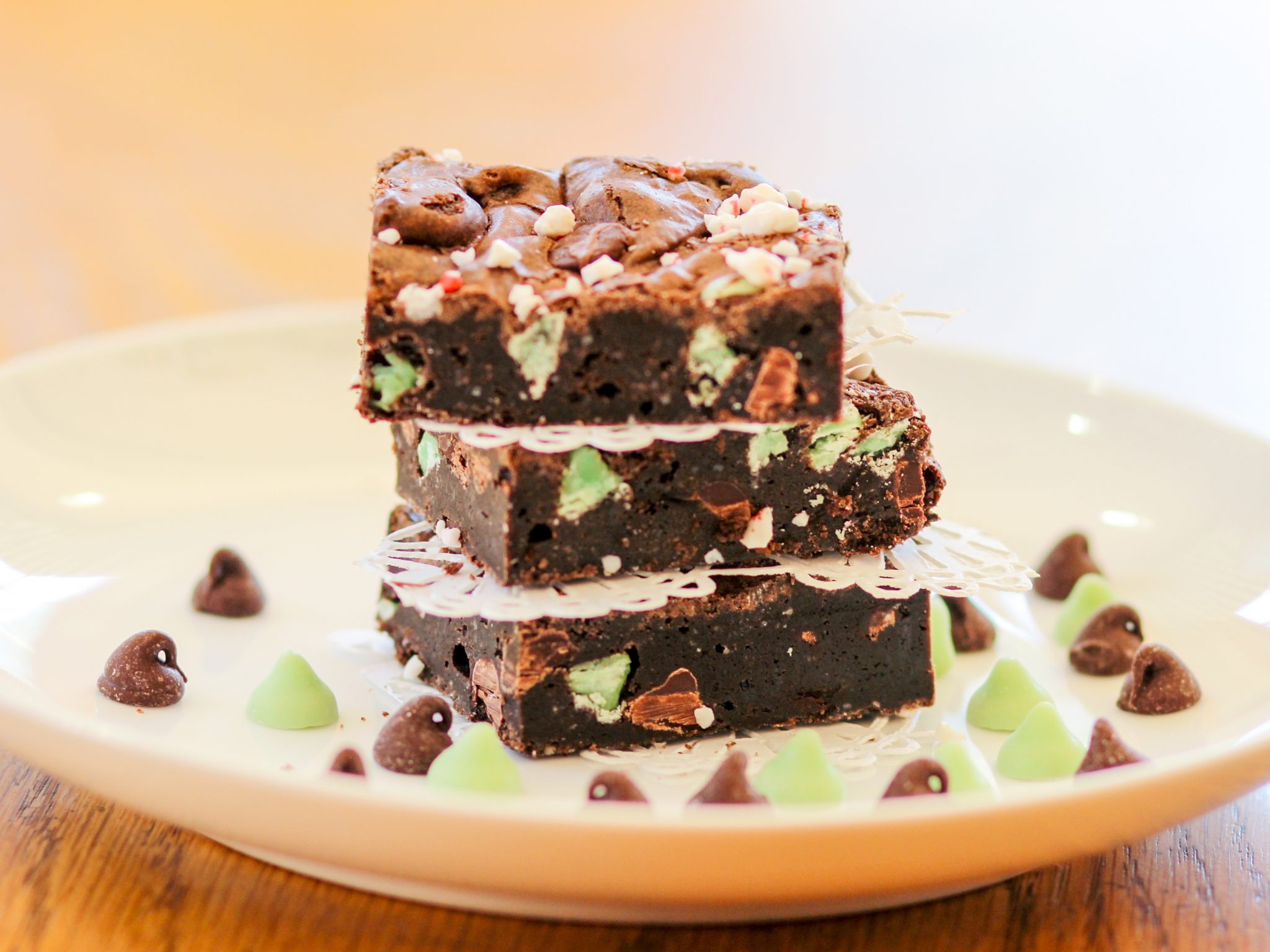 Dark Chocolate Mint Brownies Homemade Italian Cooking