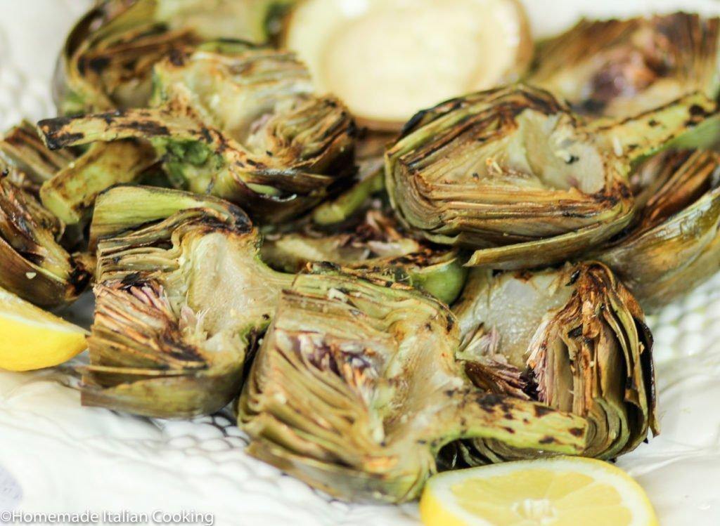 Grilled Artichokes with Garlic Aioli – Homemade Italian ...