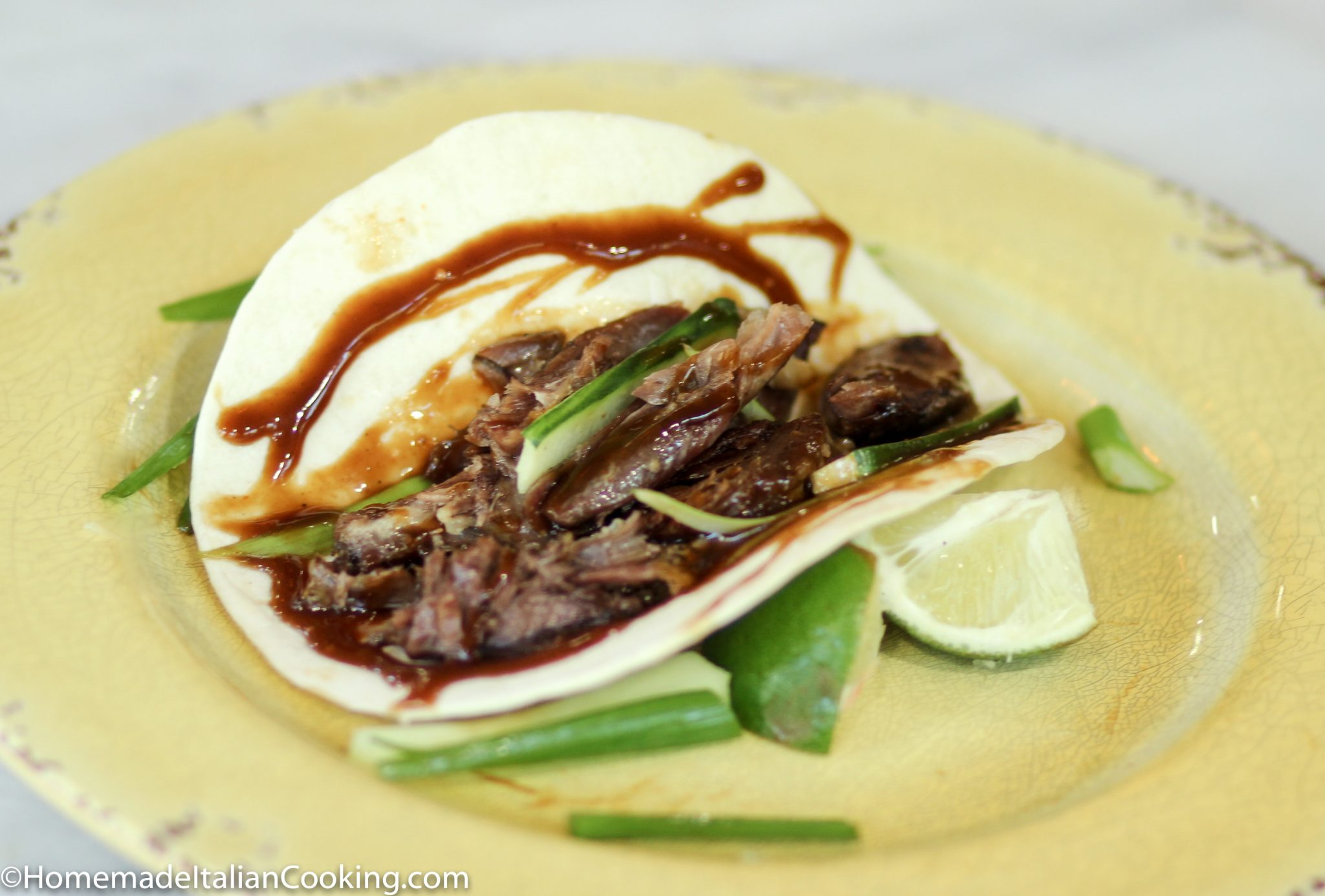 15-minute Asian Duck Leg Confit Tacos with Hoisin, Spring Onions and ...