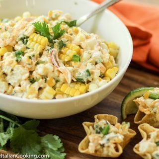 Fresh Corn Dip with Cheddar Cheese & Jalapeno