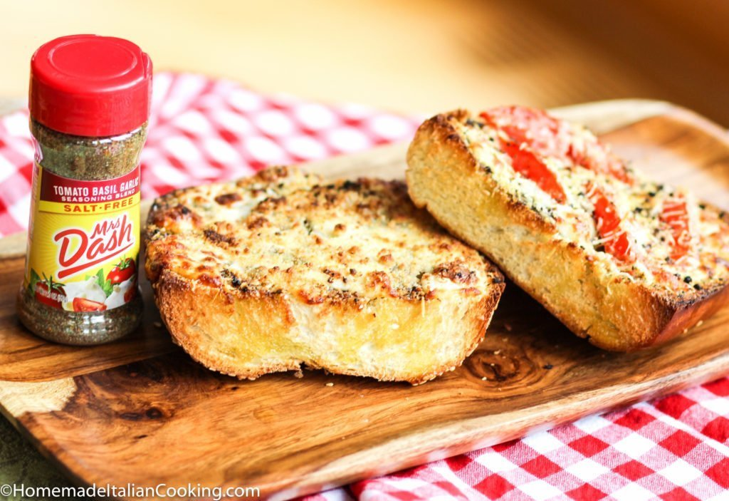 Mrs Dash Garlic bread