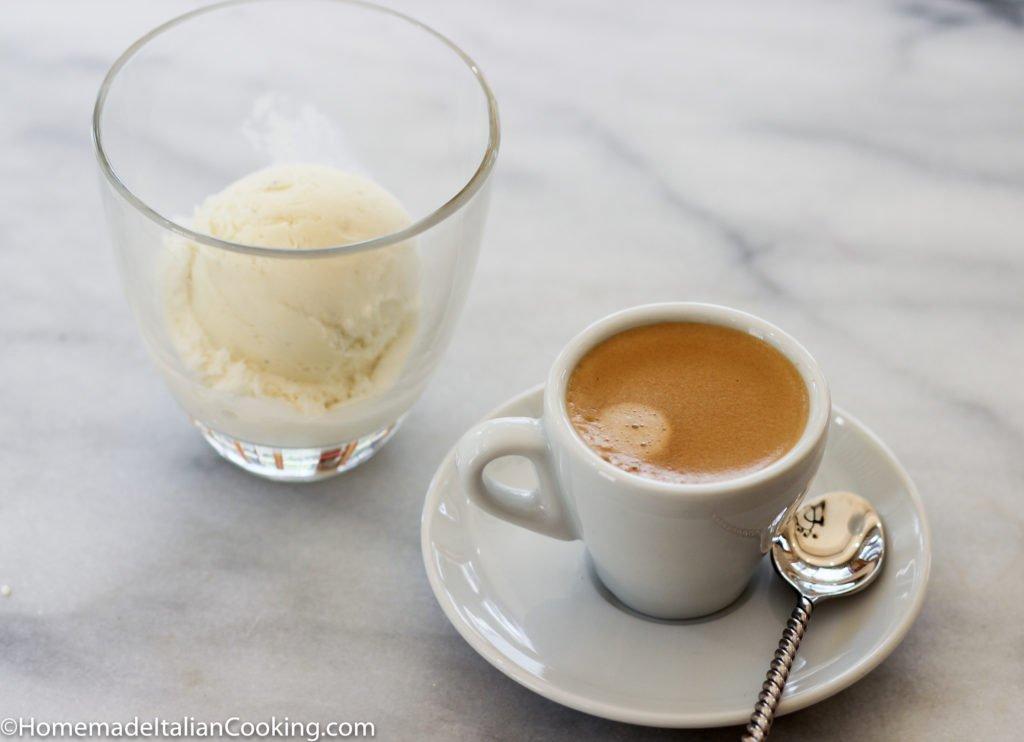 espresso and ice cream