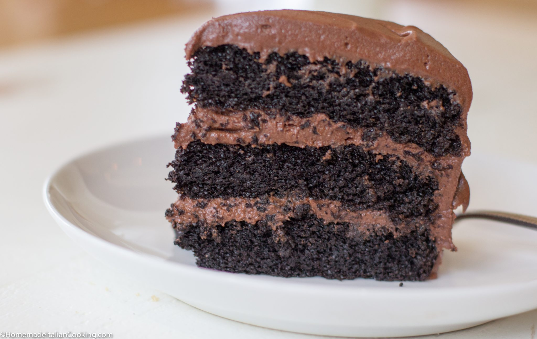 Three-Layer Chocolate Cake with Chocolate Buttercream Frosting ...