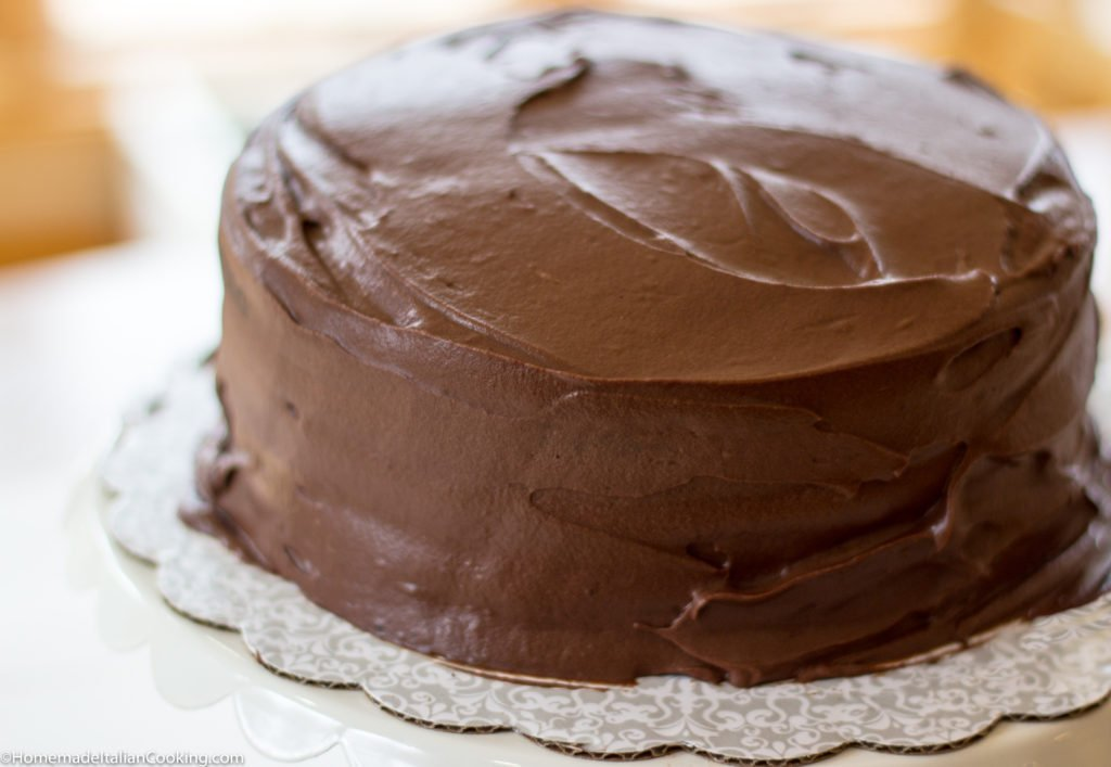 Homemade  Layer Chocolate Cake