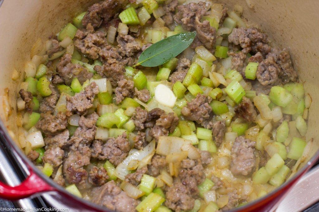 Italian Sausage, Clam and Potato Chowder