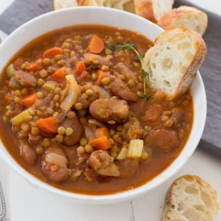 Fava Bean Soup with Lentils