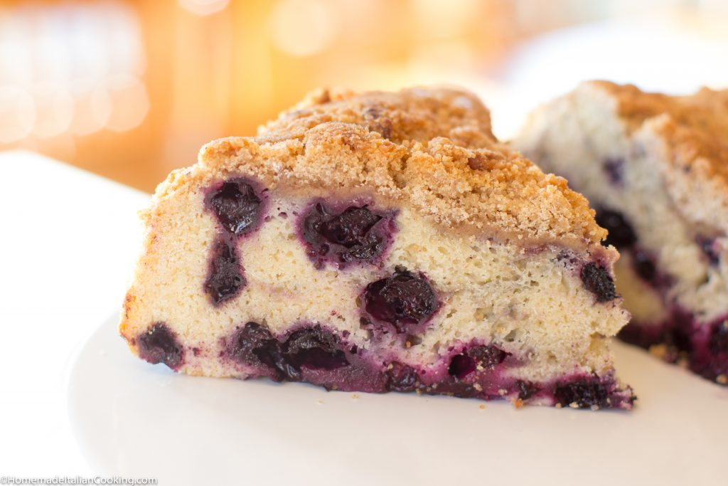 Blueberry Crumble Coffee Cake | Homemade Italian Cooking