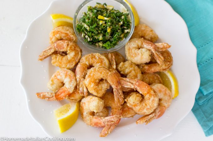Fried Shrimp on Plate