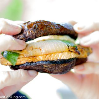 Portobello Mushroom Burger with Grilled Balsamic Chicken