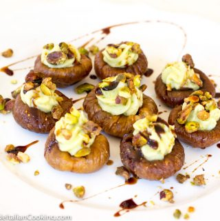 Dried Figs Stuffed with Sweet Pistachio Mascarpone: Elegant Italian Appetizers
